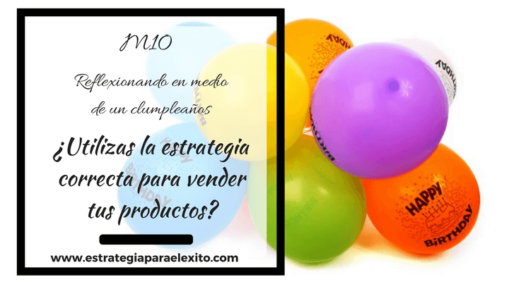 utilizas la estrategia de marketing para vener tus productos