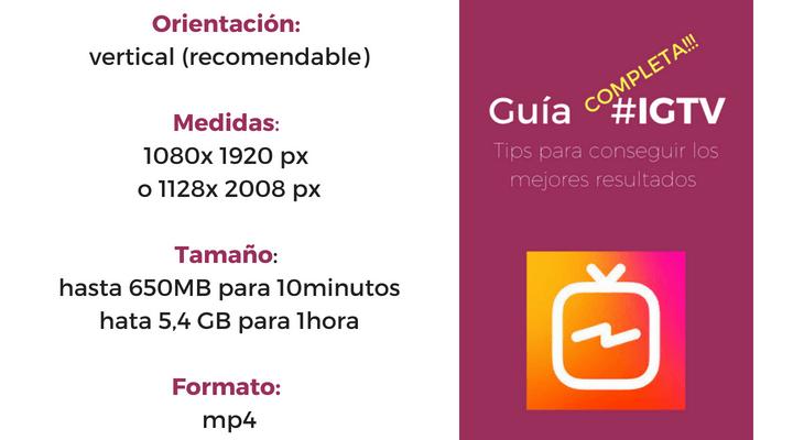 IGTV Medidas y formato